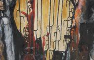 صورة من معرض الرسم التشكيلي في مهرجان الثقافة والفن في القامشلي