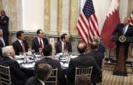 ترامب مخاطباً أمير دولة قطر : ساعدتنا في إقامة منشآت عسكرية ومطار عسكري بتمويل قطري فشكرا لك أنت صديق رائع