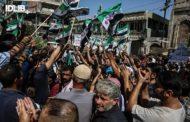 تظاهرات في إدلب مناهضة لدمشق وموسكو