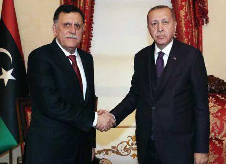 اردوغان يقر بوجود مقاتلين تابعين للمعارضة السورية يقاتلون الى جانب حكومة فايز السراج في ليبيا
