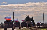 القوات الروسية والتركية تسيران دورية مشتركة في محيط عين العرب (كوباني) بمشاركة مروحيتين روسيتين
