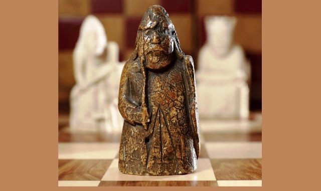 أقدم قطعة شطرنج من تصميم إسلامي مؤرخ بين الفترة 680-749 ميلادي