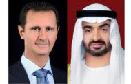 ولي عهد ابو ظبي يتصل بالأسد ويؤكد