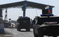 انفجار لغم ارضي بمدرعة روسية في ريف مدينة عين العرب شمال شرق سورية