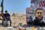 إدلب تتضامن مع جورج فلويد بـ (جدارية)على حائط دمره الطيران
