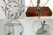 مهندس سوري يتأمل تفاصيل الحياة،ويبتكر مجسمات فنية من بقايا التفاصيل العالقة في ذاكرته..