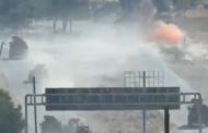 دورية تركية روسية مشتركة تتعرض لاستهداف بعبوة ناسفة على الطريق الدولي