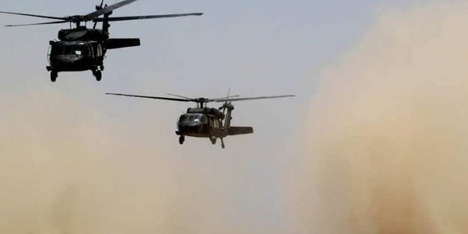 المرصد السوري ينفي سقوط مروحية أمريكية شمال شرق سوريا