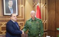 رئيس لجنة التحقيقات الروسية يلتقي علي مملوك ويزور قاعدة حميميم