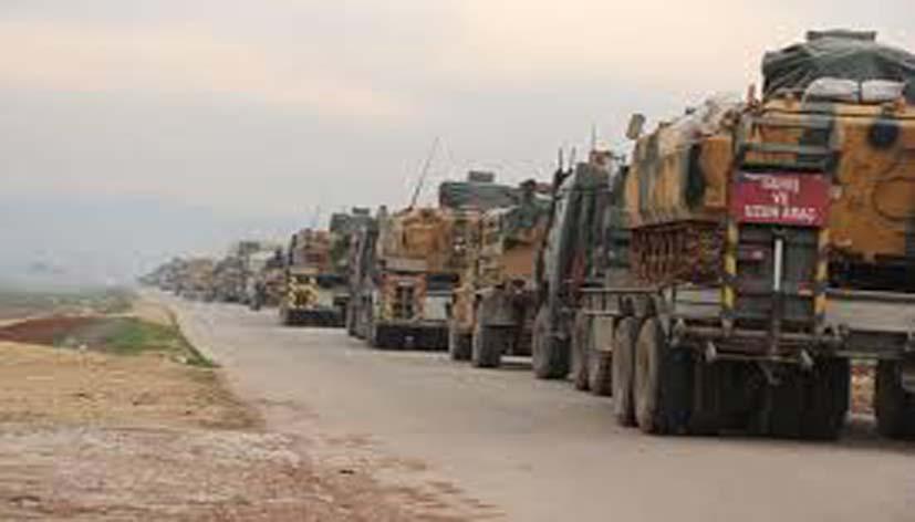 القوات التركية ترسل رتلا عسكرية مؤلفا من 20 آلية نحو الأراضي السورية.. وقصف متبادل بين القوات الحكومية والفصائل بريفي إدلب وحماة
