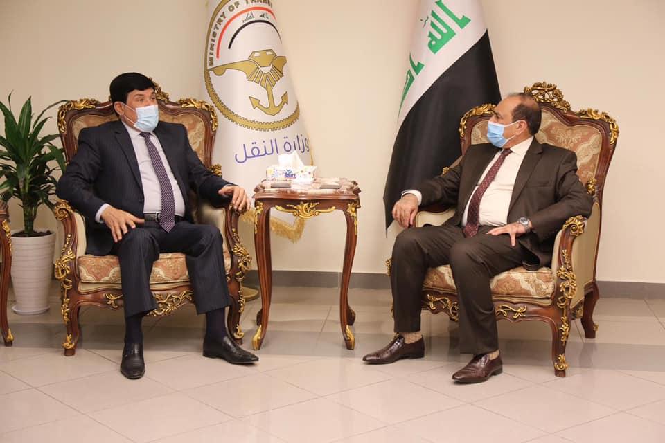 وزير النقل العراقي يبحث مع السفير السوري موضوع الربط السككي بين سوريا والعراق