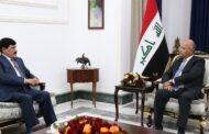 الرئيس العراقي خلال لقاءه السفير السوري في بغداد: دول المنطقة أمام مسؤولية كبيرة في تجاوز الأزمات