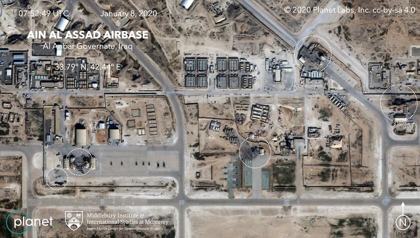 سقوط صواريخ على قاعدة عين الأسد الجوية التي تستضيف قوات أمريكية في العراق