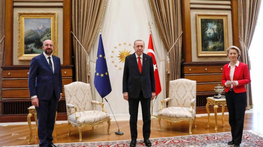 الاتحاد الأوروبي يعرب لإردوغان عن قلقه حيال حقوق الانسان في تركيا
