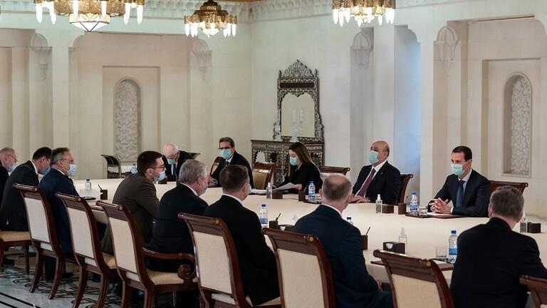 الأسد يستقبل المبعوث الخاص للرئيس الروسي إلى سوريا