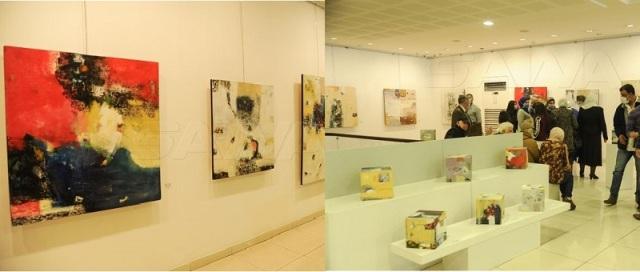 (بلا عنوان) لوحات للفنان سالم عكاوي في معرض كانت الجزيرة السورية هي السمة الأبرز