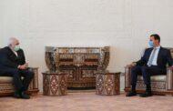 الأسد يلتقي ظريف ويبحثان ملف اللجنة الدستورية والملف النووي وتطورات الأوضاع في الأراضي الفلسطينية